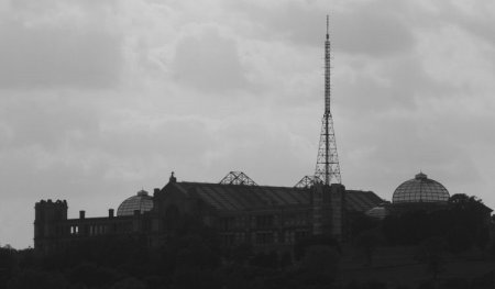 Dark clouds over Alexandra Palace