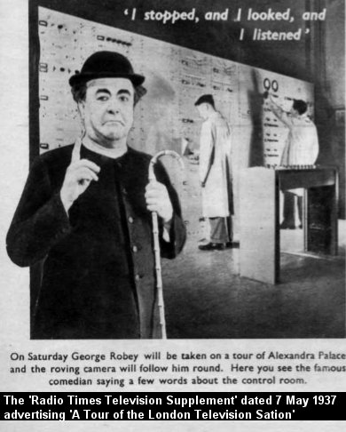 George Robey goes behind the scenes at Alexandra Palace.