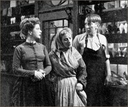 Wilfred Pickles made his TV acting debut in 'Hobson's Choice.' Pictured here with Belle Chrystall and Sibell Gill.