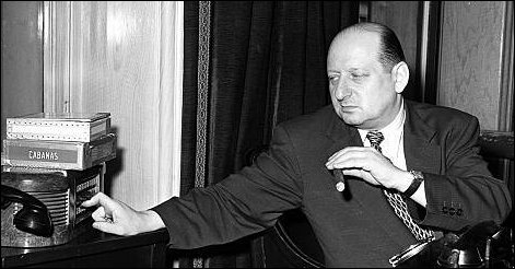 Lew Grade with trademark cigar