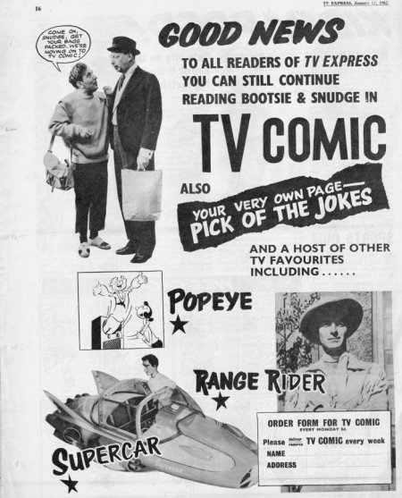 Ad for TV Comic